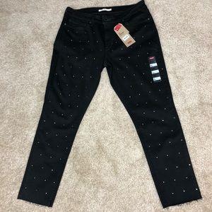 Black 711 skinny ankle jeans